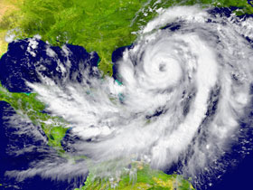 weather satellite imagery of a hurricane